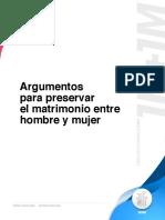 1H1M - Argumentos Para Preservar El Matrimonio Entre Hombre y Mujer