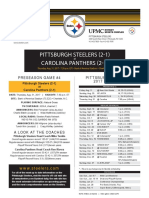 Pittsburgh Steelers At Carolina Panthers (Aug. 31, 2017)
