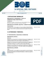 Boletín Oficial 31 de agosto de 2017