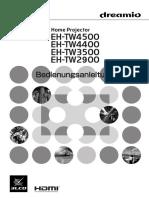 Epson EH TW3500 Brochures