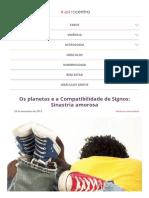 Os Planetas e a Compatibilidade de Signos_ Sinastria Amorosa - Astrocentro Blog