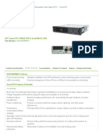 Product Overview for APC Smart-UPS 1500VA USB & Serial RM 2U 230V _ APC