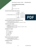 Álgebra de Los Números Complejos