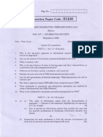 Information Security and Cryptography Question Papers