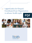 CCO Opportunities to Advance Health Equity