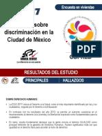 Encuesta sobre discriminación en la Ciudad de México 2017