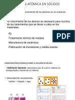 Procesi de difusión en metales