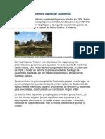 Fundación de La Primera Capital de Guatemala