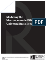 Modeling the Macroeconomic Effects of a UBI