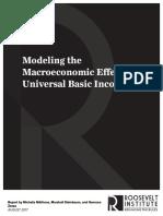 Modeling the Macroeconomic Effects of a UBI