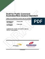 Norma Neozelandesa Iluminacion Vial
