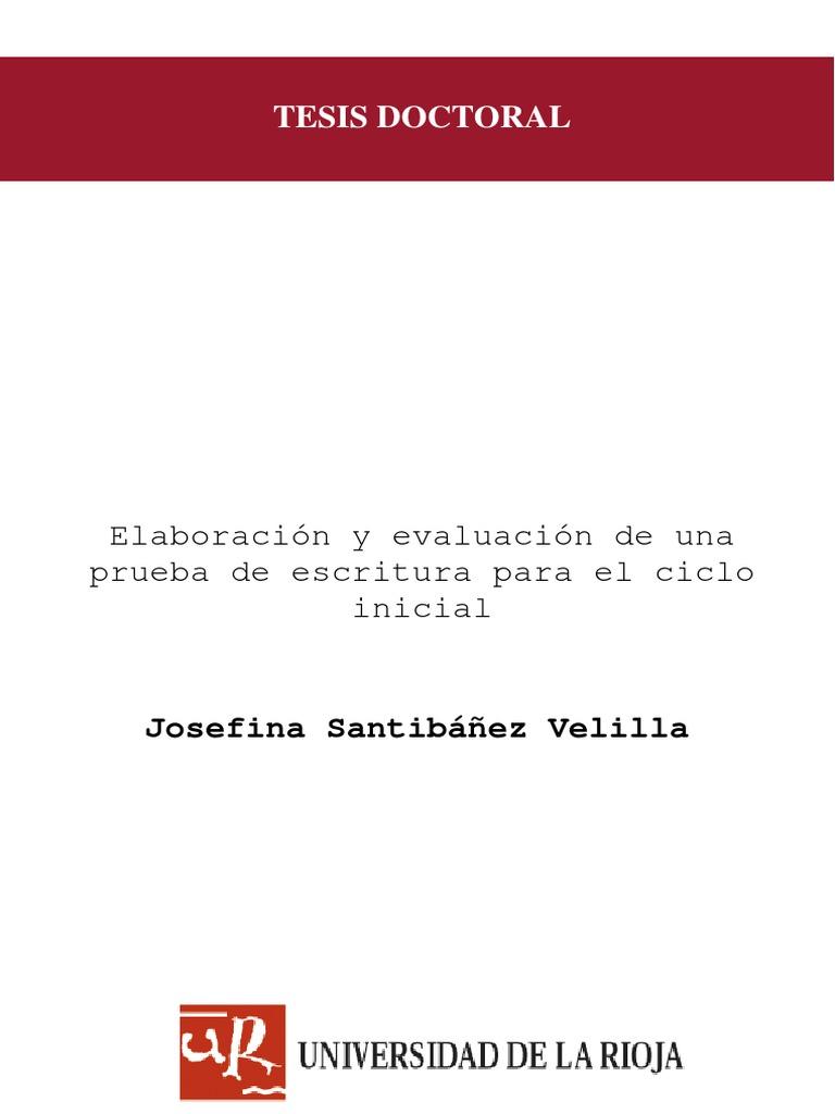 Tesis Doctoral Elaboración y Evaluación de una Prueba de Escritura ...