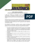 Não à Venda Da Amazônia