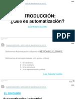 Unidad 1 - Definición de Automatización y Terminología en Instrumentación