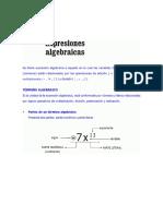 Términos Algebraicos