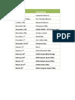 2017-18 schedule