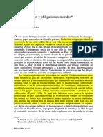 HONNETH - Reconocimiento y Obligaciones Morales
