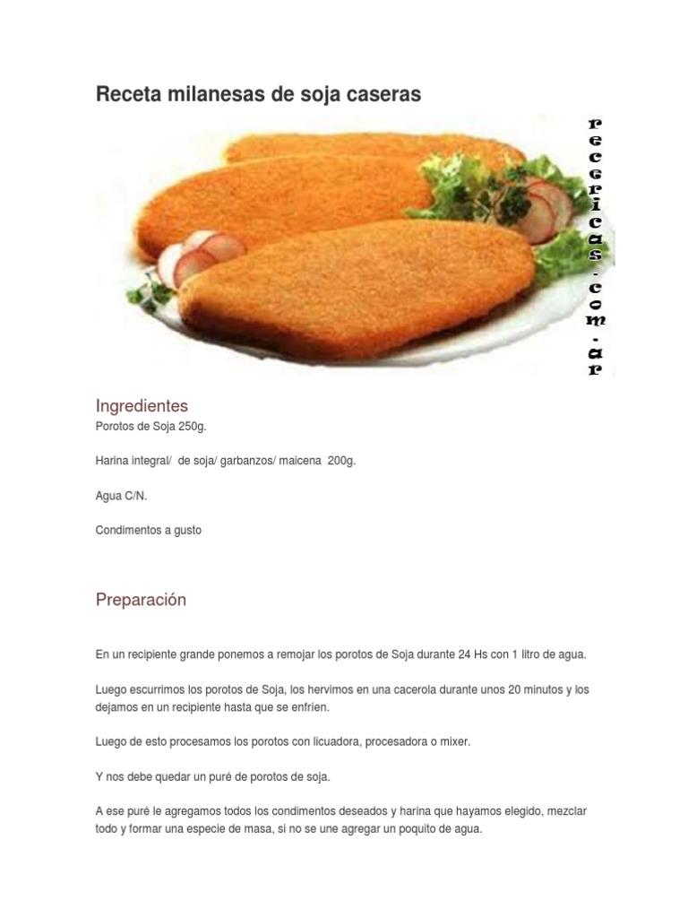 recetas milanesas de soja caseras