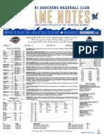 8.31.17 at MOB Game Notes