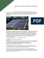 Que Es y Cómo Funciona Un Panel Fotovoltaico