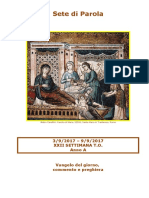 Sete di Parola - XXII settimana T.O. - Anno A (bis).doc