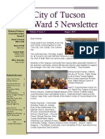 City of Tucson, Ward 5 Newsletter for August 2017