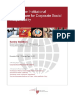 Building the Institutional Infrastructure for Corporate Social Responsibility