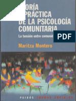 Teoría y Práctica de La Psicología Comunitaria