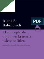 Rabinovich Diana S - El Concepto de Objeto en La Teoria Psicoanalitica