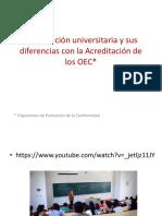 Acreditación Universitaria y Sus Diferencias Con La Acreditación