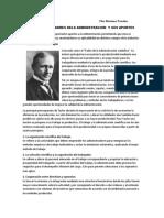 Historia de Los Padres Dela Administracion y Sus Aportes.
