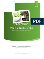 Manual de Matricula en Linea New