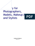 Glossary for Photographers, Models, Makeup Artists, and Stylists