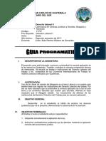 Cc. Juridicas Ciclo 6 Derecho Laboral II