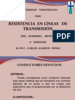 Resistencia en lineas de transmision