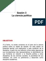 Sesión 3 La Ciencia Política