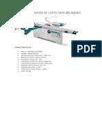 Máquina Para Trabajos Con Melamine Completa Motor Trifasico