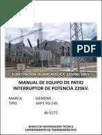 Manual de Equipo de Patio interruptor de potencia 220kv.pdf