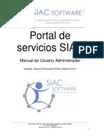 Portal de Servicios SIAC (Manual Admin)