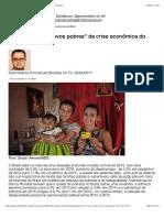"""Protegendo os """"novos pobres"""" da crise econômica do Brasil"""