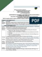 Programación del Encuentro Nacional e Internacional de Educadores Apure 2017