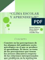 Clima Escolar y Aprendizaj3