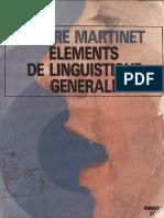 Eléments de Linguistique Générale - André Martinet