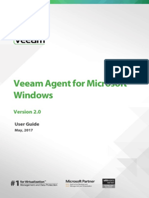 Veeam Agent Windows 2 0 User Guide | Backup | Computer File