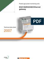 Gateway EGX100 - EGX400 Technical Data Sheet