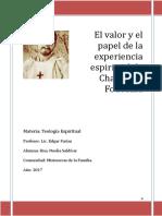 El Valor y El Papel de La Experiencia Espiritual de Charles de Foucauld