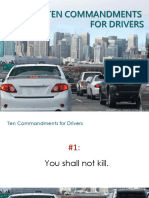 10 Commandents of Driving