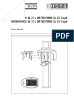 Sirona Orthophos SL Dental X-Ray - Service Manual