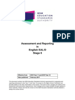 assessment and reporting english eald stage 6