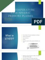low-temperature atmospheric pressure plasma